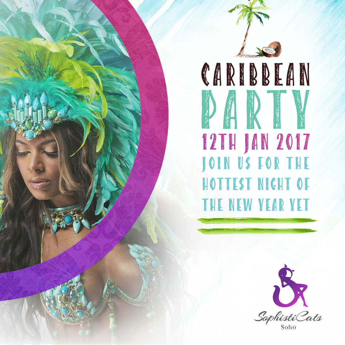 Caribbean Party at Sophisticats Strip club London