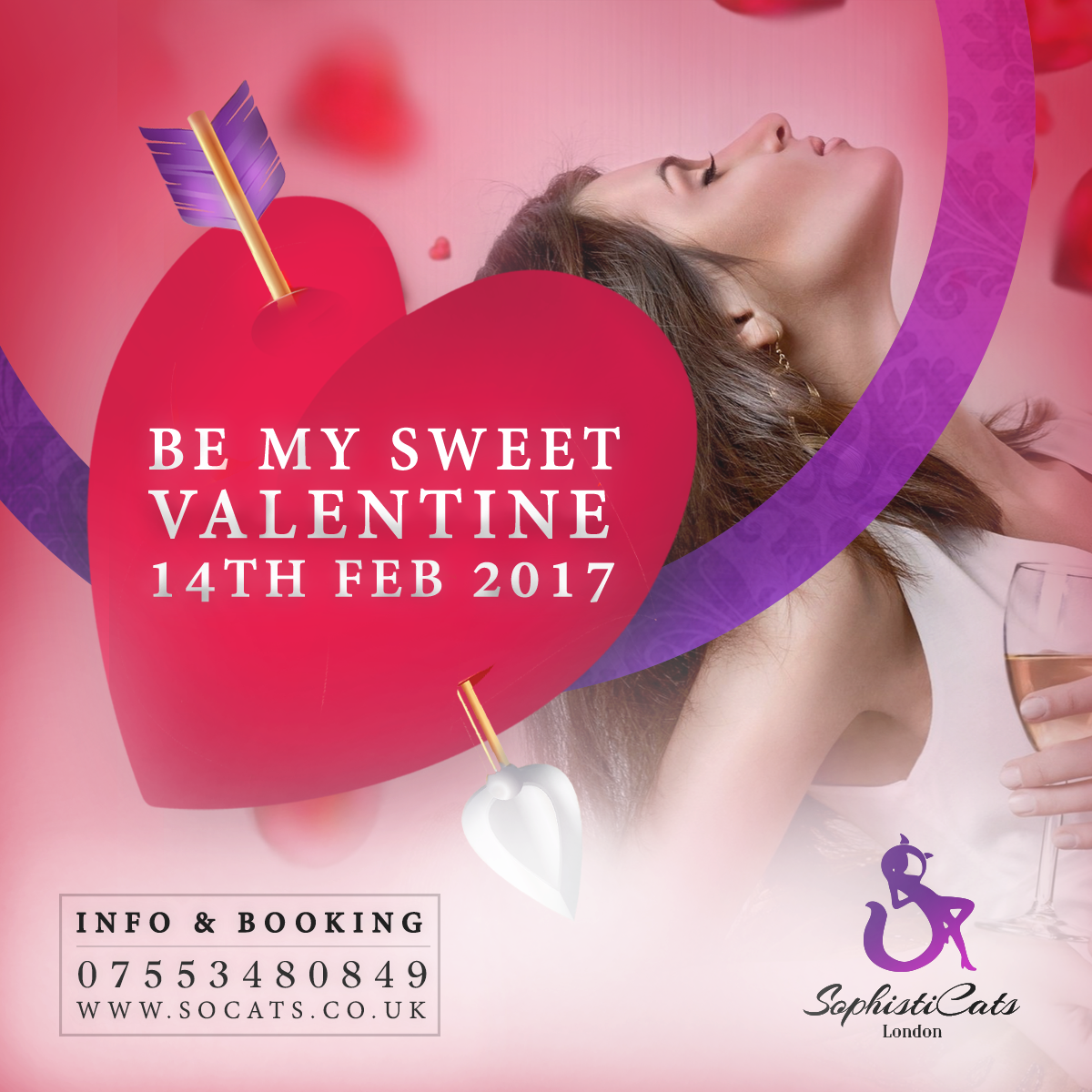 Valentine's Day at Sophisticats Strip club London